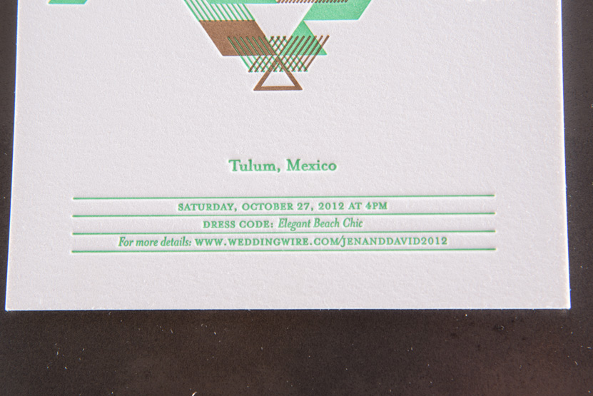 tulum wedding invitation custom native design