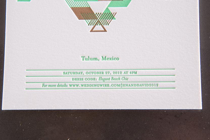 tulum wedding invitation custom native design