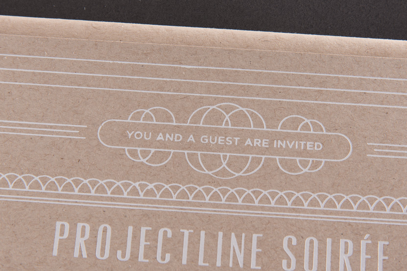 white printing foil on kraft print seattle designers
