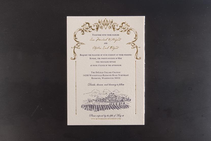 winery wedding invitation design