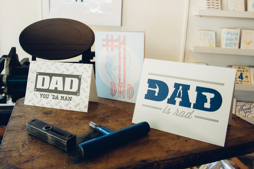 father's day letterpress greeting card