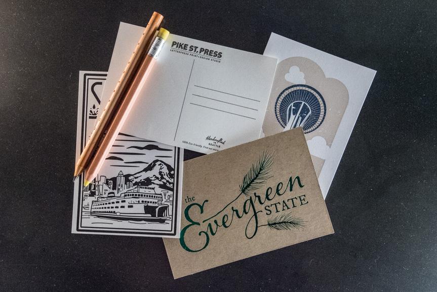Seattle letterpress postcards