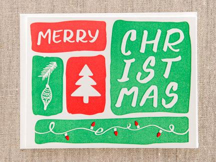 holiday letterpress greeting card