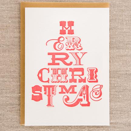 Letterpress Christmas Cards.A Letterpress Christmas Paper Crave Pike St Press