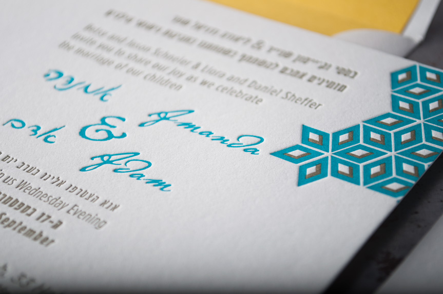 custom letterpress designers seattle wedding invitation printing press print design