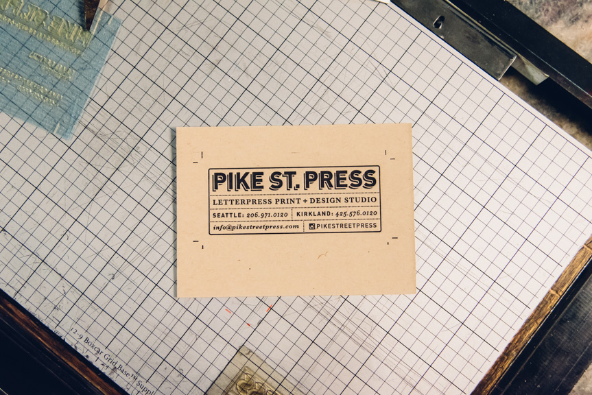 letterpress business cards print studio seattle custom design mini small card