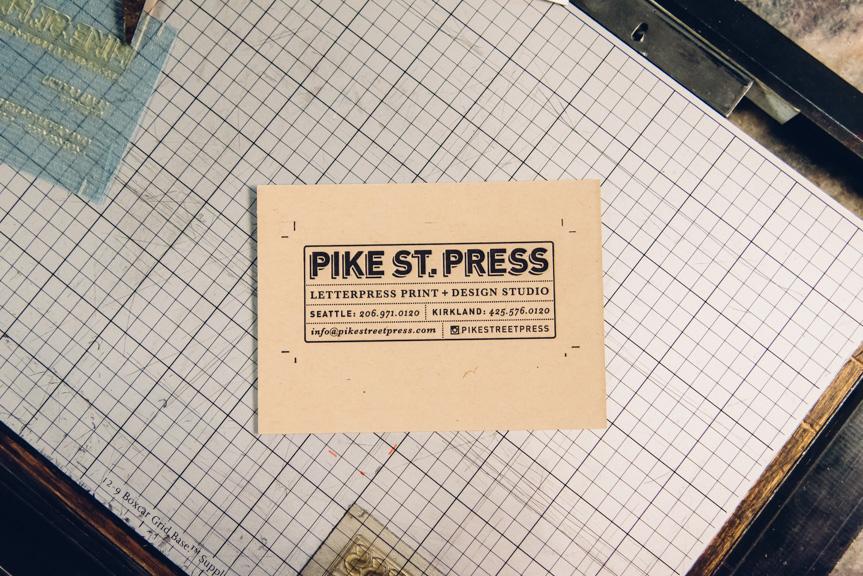 letterpress business cards print studio seattle custom design mini small card