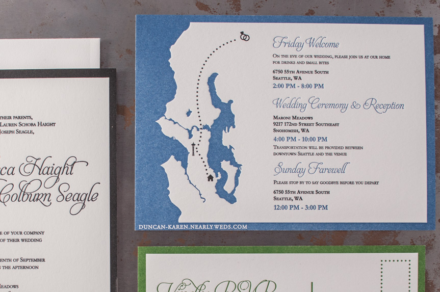 seattle puget sound design letterpress invitation designers