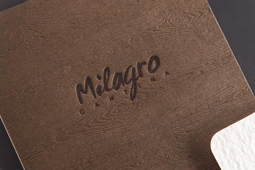 wood grain paper mexican restuarant menus menu letterpress printing