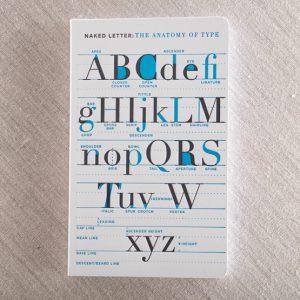 anatomy letterpress notebook
