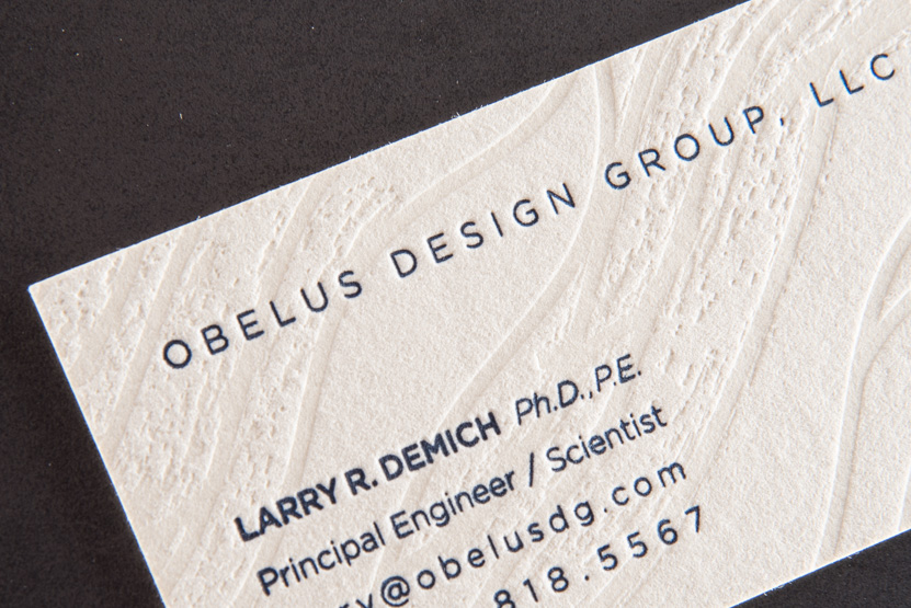 blind deboss letterpress print business card seattle