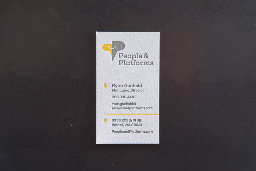 business card printing bellevue letterpress print press custom graphic designer