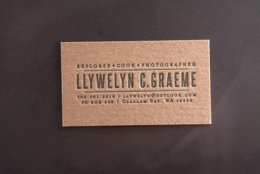 business card printing seattle letterpress print press custom graphic designer kraft paper cards