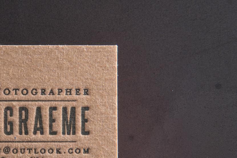 business card printing seattle letterpress print press custom graphic designer photographer kraft paper