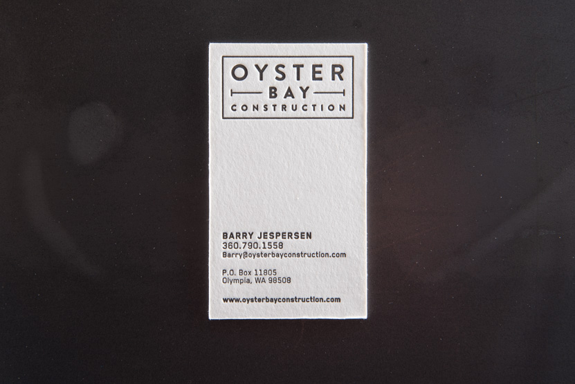 construction company business card printing seattle letterpress print press custom graphic designer