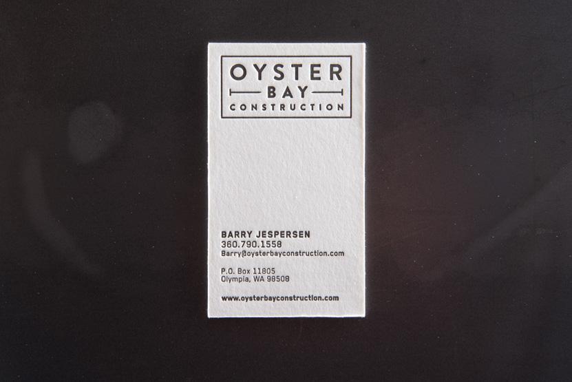 construction company business card printing seattle letterpress print press custom graphic designer
