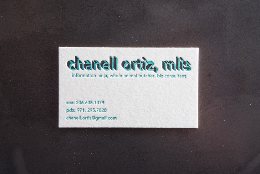 consultant business card printing seattle letterpress print press custom graphic designer