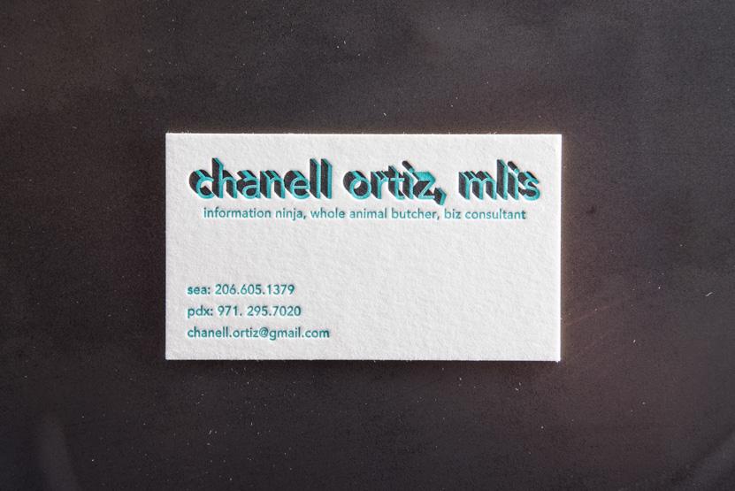 consultant business card printing seattle letterpress print press custom graphic designer