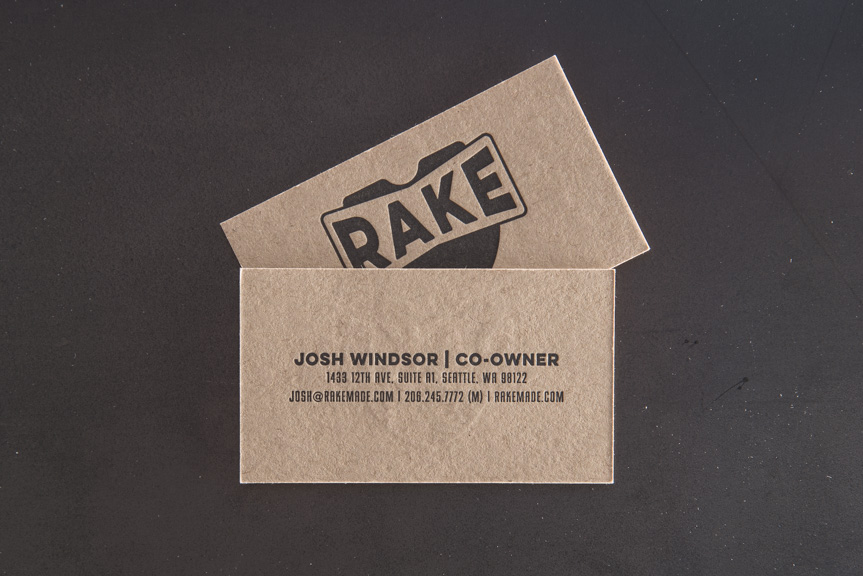 custom business cards kraft paper seattle letterpress print studio printing press