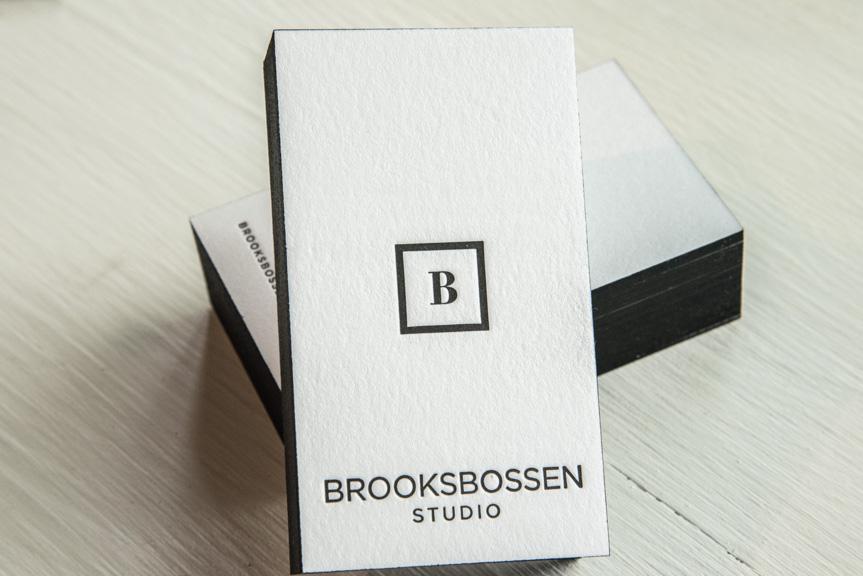 custom design letterpress printing studio seattle photography business cards