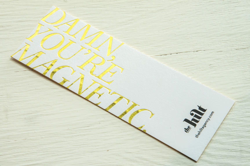 foil printed bookmark custom prrinting seattle letterpress printer design studio