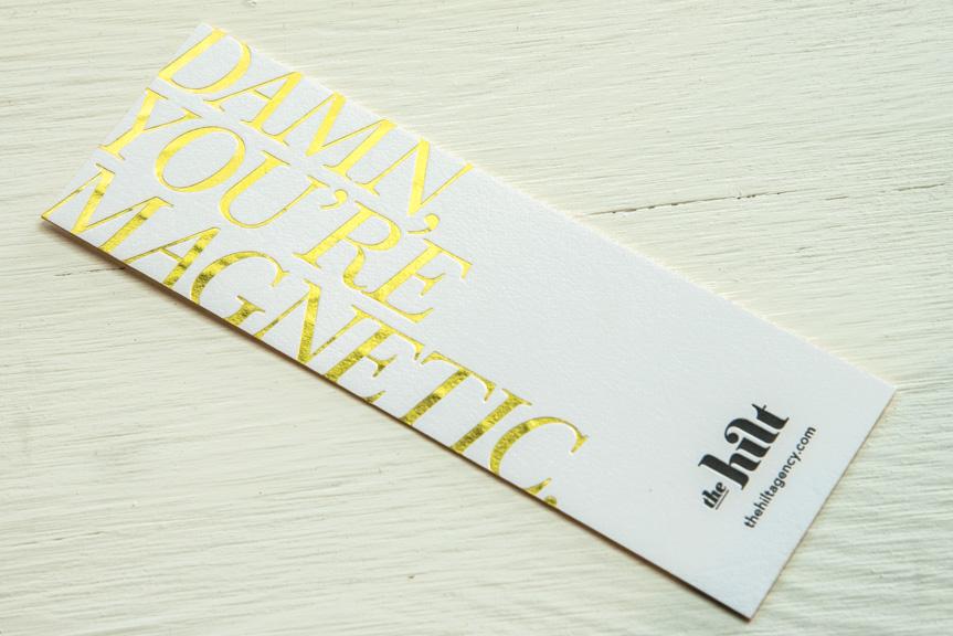 foil printed bookmark custom prrinting seattle letterpress printer design studio