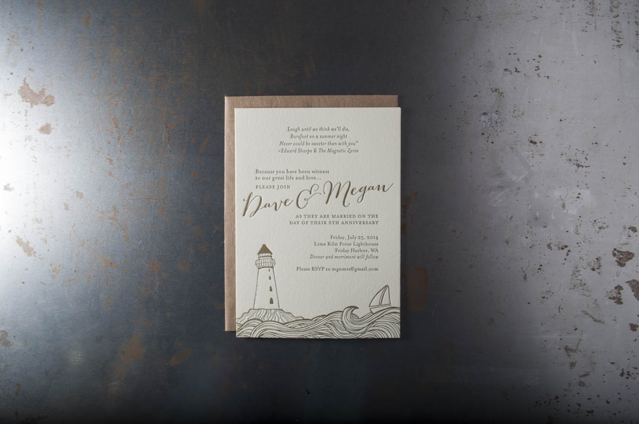 friday harbor wedding invitations seattle letterpress printing