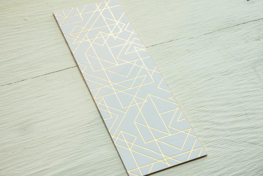 gold foil prism bookmark printing seattle letterperss custom design