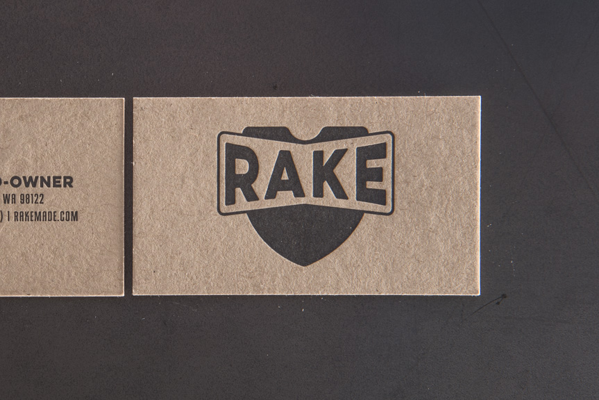 kraft letterpress business card