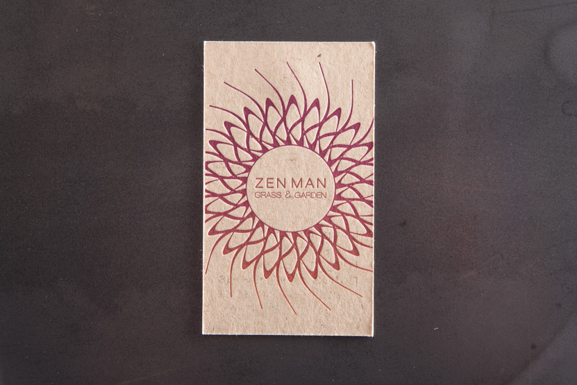 landscape business card printing seattle letterpress print press custom graphic designer kraft paper