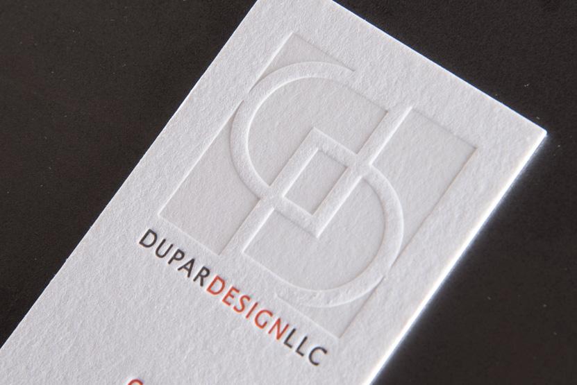 lettepress printing seattle deboss logo pressed