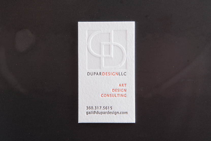 letterpress business card thick paper press seattle printers designers