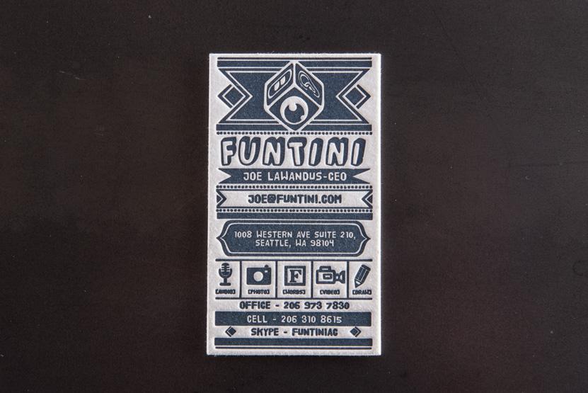 seattle letterpress business card