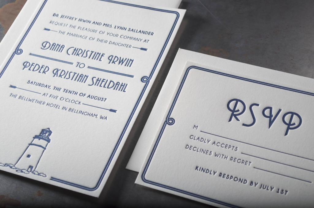 lighthouse-letterpress-wedding-invitations-custom-bellwether hotel bellingham