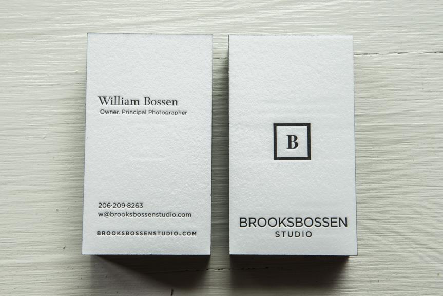 photography studio business cards letterpress black edgepaiting modern clean seattle printers custom design