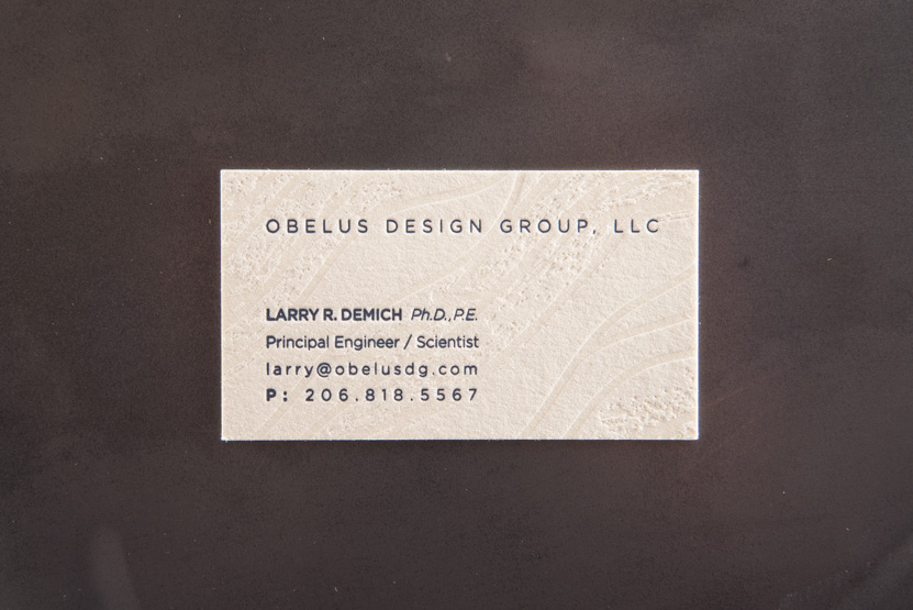 scientist business card design printing seattle blind press