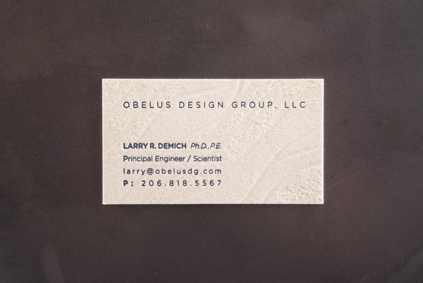 scientist business card design printing seattle blind press