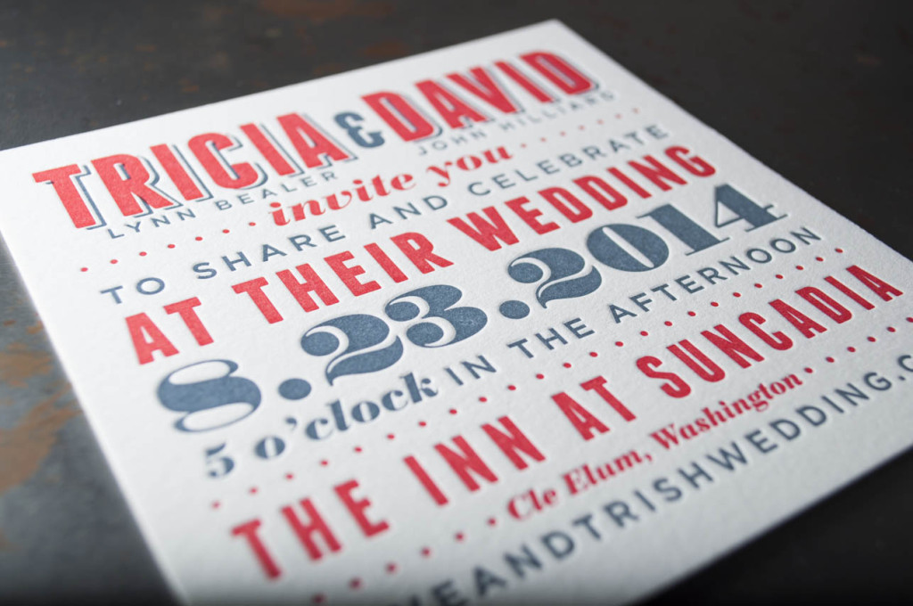 suncadia wedding venue invitation design seattle letterpress printing