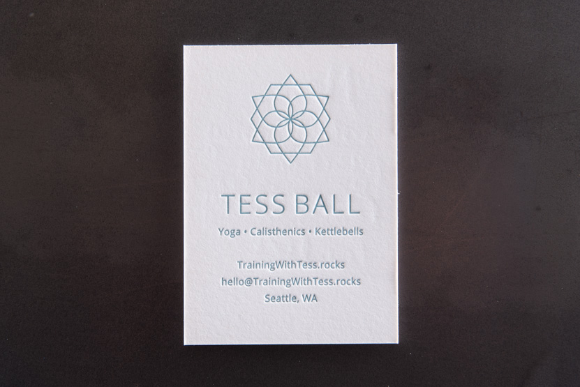 yoga business card logo pilates cards branding printing seattle