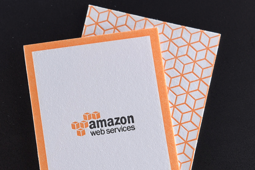 Amazon web services pike street press letterpress business cards seattle reheart Images