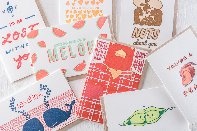 Love letterpress greeting cards