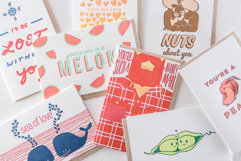 Love letterpress greeting cards