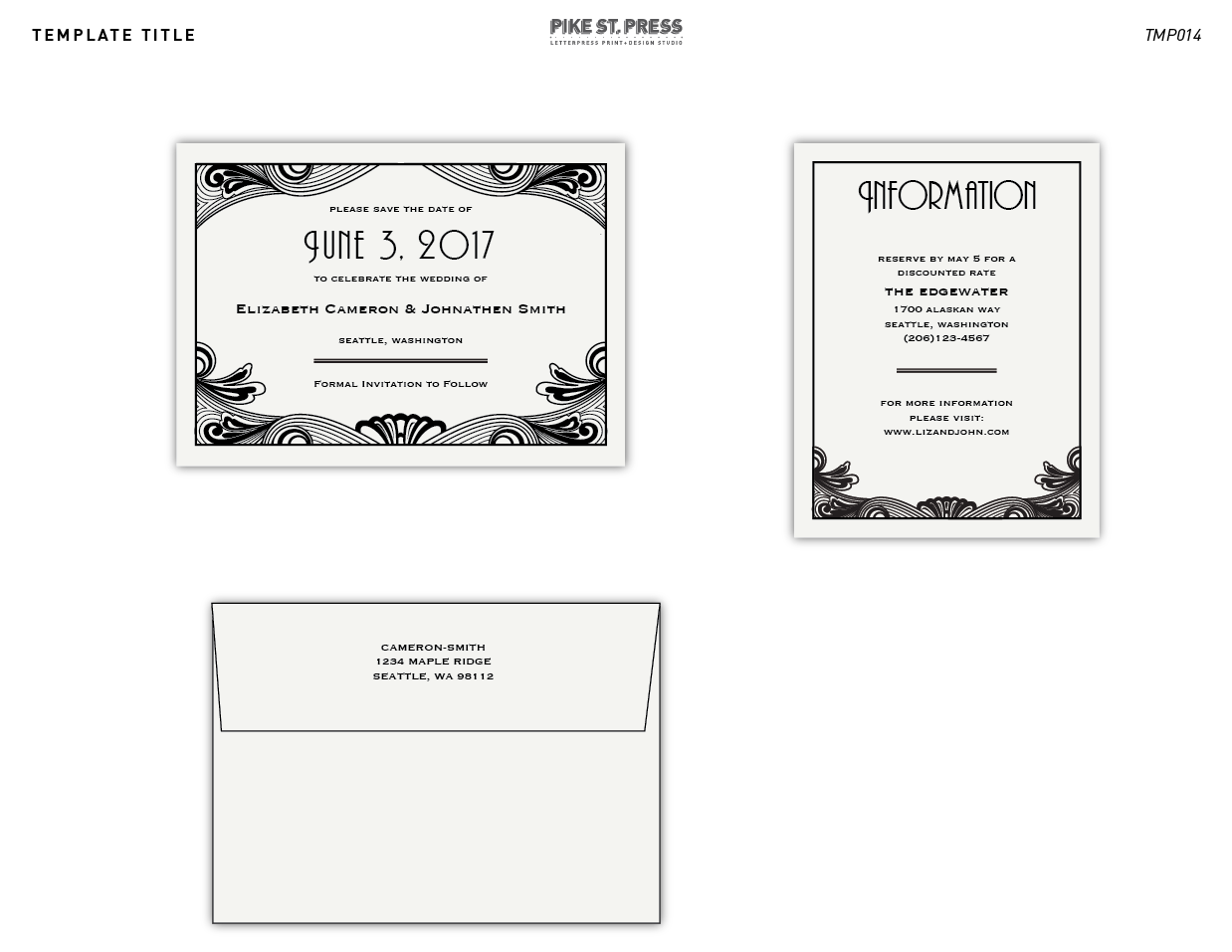 Related Posts Pacific Northwest Wedding Invitation