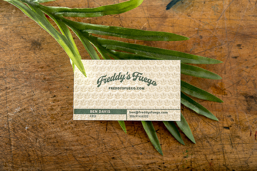 Pot shop business cards – Pike Street Press