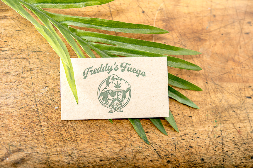 pot shop letterpress business card