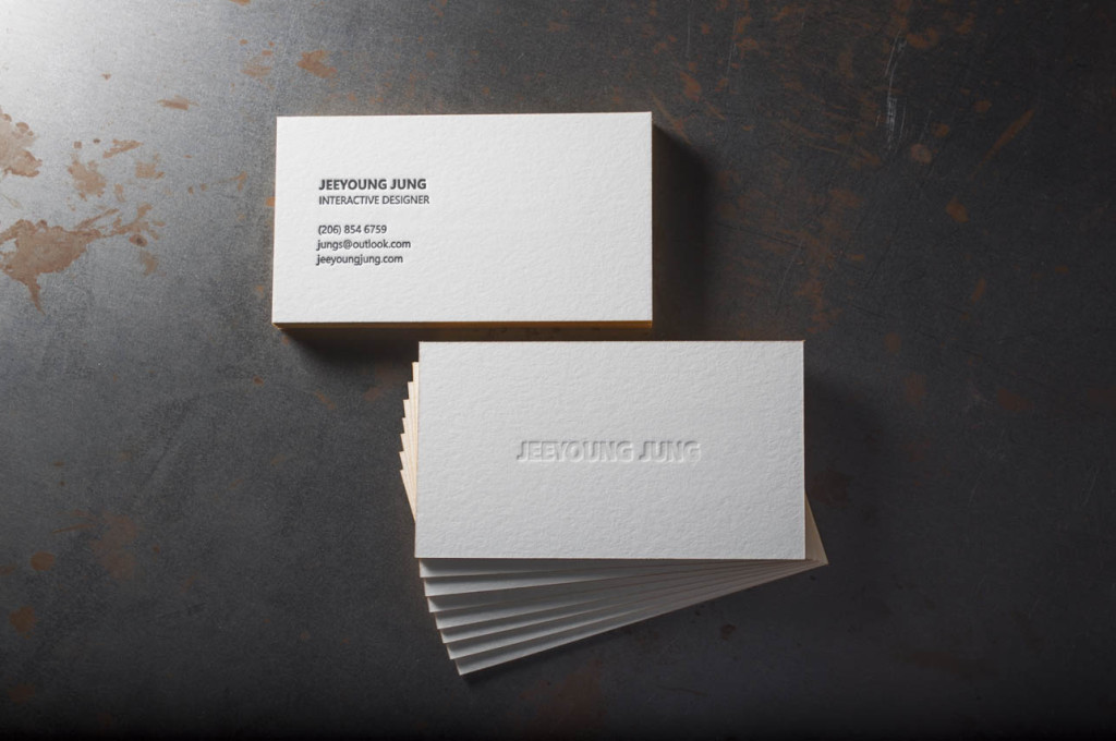 Gold foil Edge Business Cards – Pike Street Press