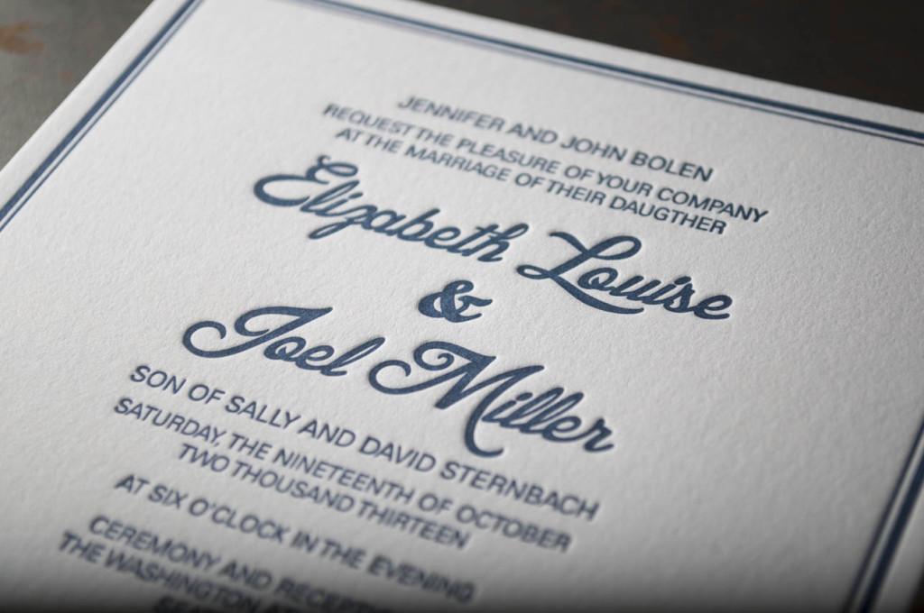 Seattle Skyline Silhouette Wedding Invitation – Pike Street Press