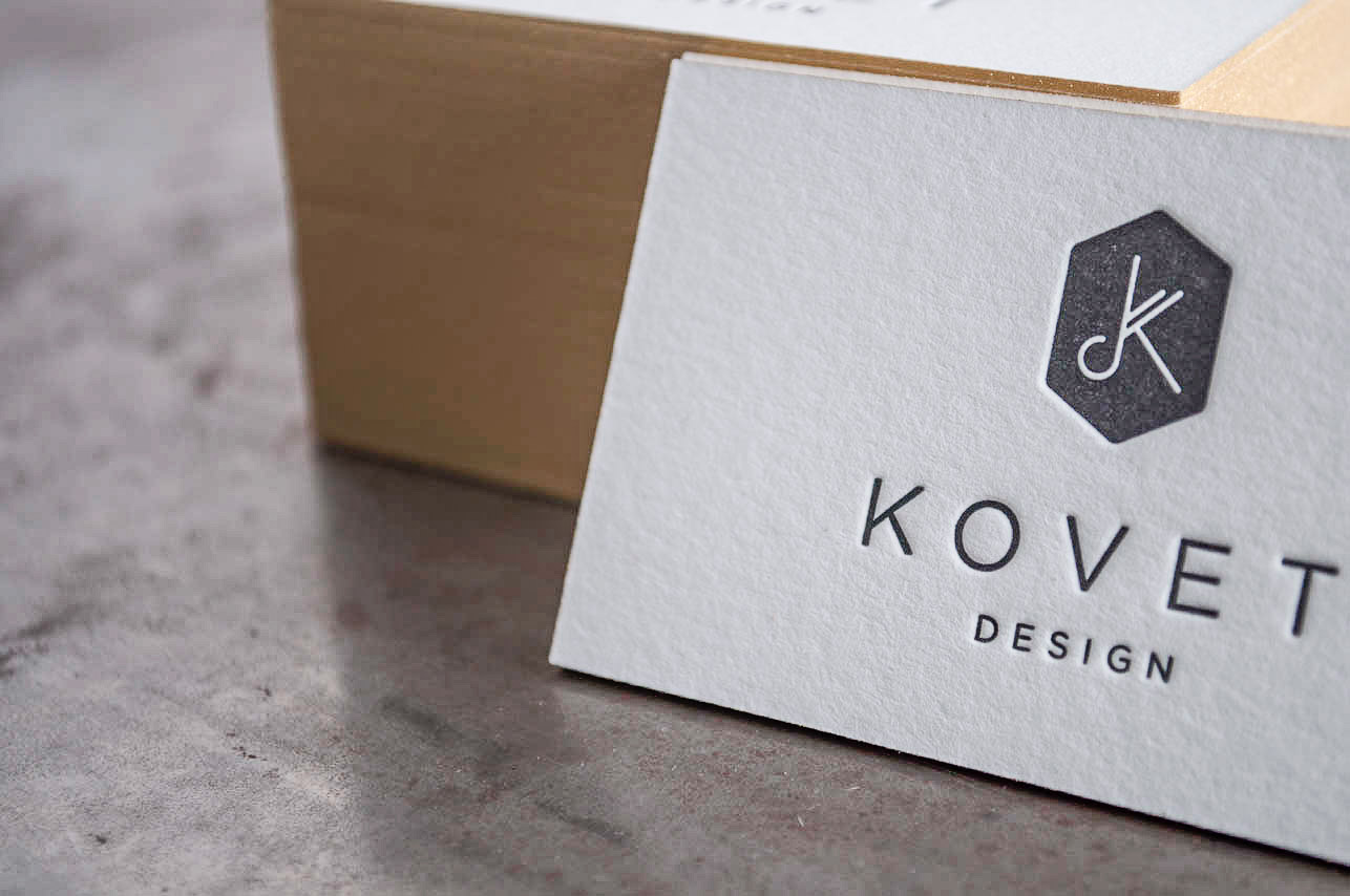 kovet design letterpress business cards - Letterpress Business Cards