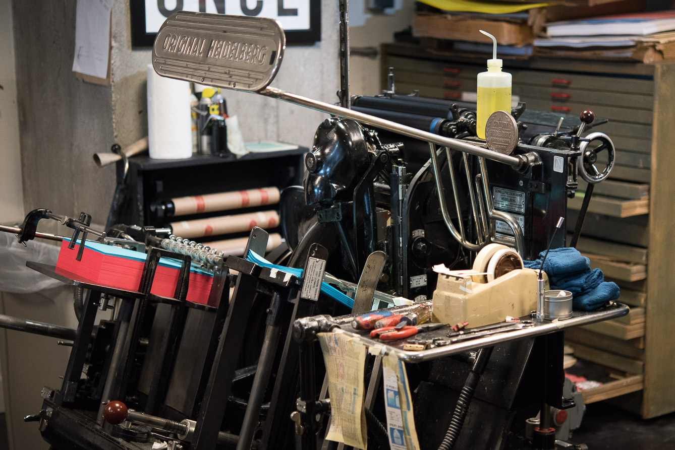heidelberg printing press seattle letterpress
