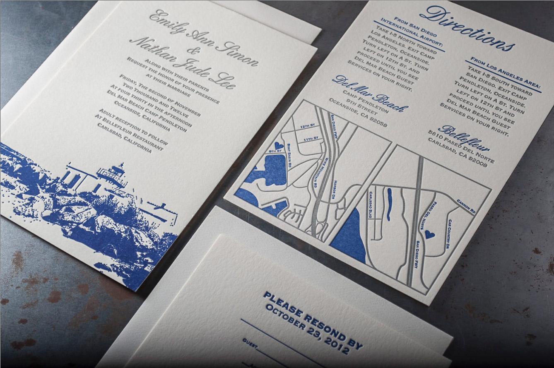Oceanside California Wedding Invitations – Pike Street Press